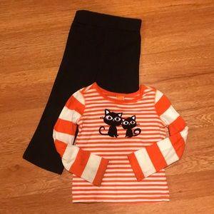 Halloween outfit orange & white striped top